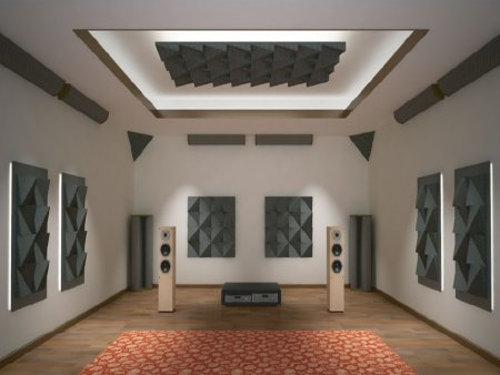 acoustic treatment in room