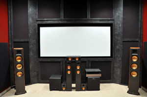 Large speakers, small room
