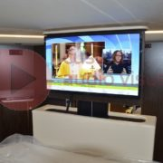 Concorde Motorhome bedroom TV lifter