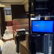 Concorde Motorhome living room TV