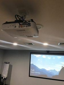 Singleton Council ceiling mounted projector