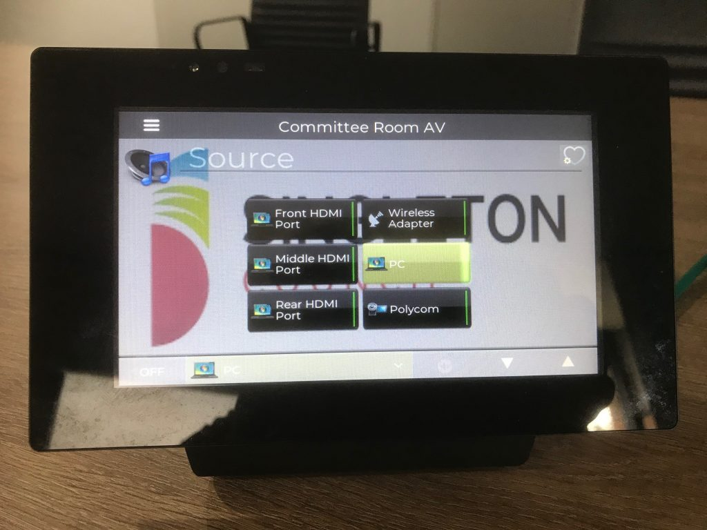 table mounted automation touchscreen
